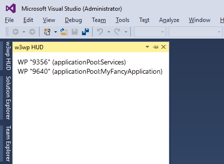 w3wp Visual Studio Extension preview